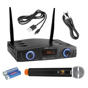 PYLE(R) Compact UHF Pro Wireless Microphone System with Handheld Microphone PDWM1980