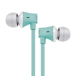 JIVE Noise Isolating Earbuds with In-line Microphone (Seafoam)
