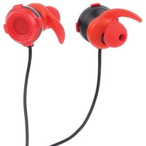 Gaming Earbuds with Removable Microphone (Red)