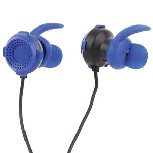 LVLUP Gaming Earbuds with Removable Microphone (Blue) LU701-BLU