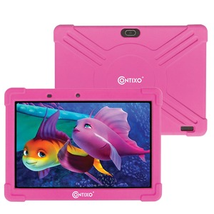 10-Inch Kids Tablet Kids Tablet with Protective Case and 16 GB Storage (Pink)