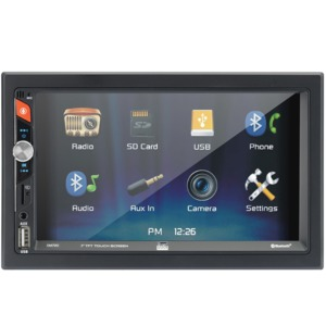 DUAL(R) 7-Inch Double-DIN In-Dash Mechless Receiver with Bluetooth(R) DM720