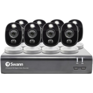 1080p Full HD Surveillance System Kit with 8-Channel 1 TB DVR and Eight 1080p Cameras