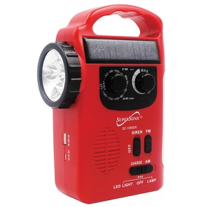 5-Way Emergency Solar/Hand Crank Radio with Flashlight