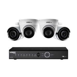4K Ultra HD 8-Channel PoE IP NVR Security Camera System with Four 4K IP Cameras