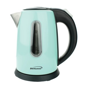 1-Liter Stainless Steel Cordless Electric Kettle (Blue)