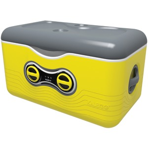 47.5-Quart Cooler with Removable Bluetooth(R) Speaker (Yellow)