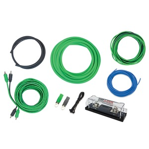 X-Treme Green Series 4-Gauge ANL Amp Installation Kit