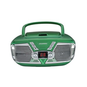 Retro Portable CD Radio Boombox (Green)