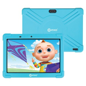 10-Inch Kids Tablet Kids Tablet with Protective Case and 16 GB Storage (Blue)