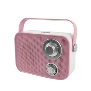 Retro Design Bluetooth(R) Speaker (Pink)