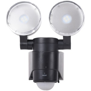 MAXSA(R) INNOVATIONS Battery-Powered Motion-Activated Dual-Head LED Security Spotlight 43218-RS