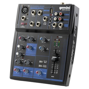 GEM-05USB Compact 5-Channel Bluetooth(R) Audio Mixer