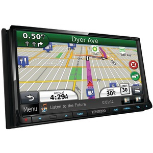 KENWOOD 6.95 inch. WVGA Double-DIN Navigation-DVD Receiver with Bluetooth(R) & HD Radio(TM) DNX771HD