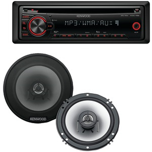 KENWOOD Single-DIN In-Dash CD Receiver with 6.5 inch. 2-Way Speakers PKG-115