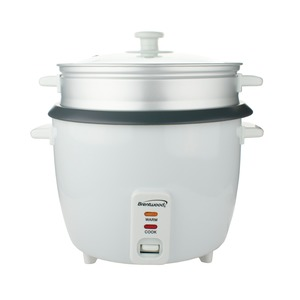 4-Cup Uncooked/8-Cup Cooked Rice Cooker and Food Steamer (White)