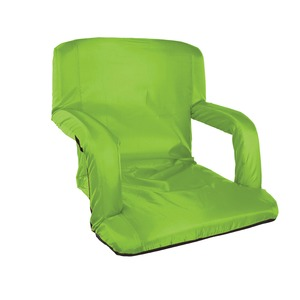 STANSPORT(R) High-Density-Foam-Padded Folding Stadium Seat with Arms (Green) G-5-10