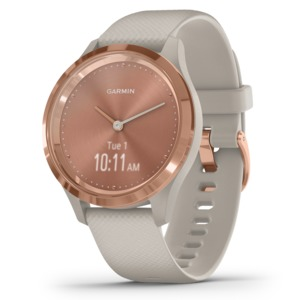 GARMIN(R) vivomove(R) 3S Hybrid Smartwatch (Light Sand with Rose Gold Hardware) 010-02238-02