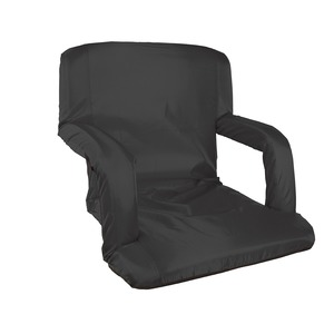 STANSPORT(R) High-Density-Foam-Padded Folding Stadium Seat with Arms (Black) G-5-20