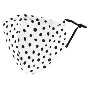 WEDDINGSTAR Adult Reusable/Washable Cloth Face Mask with Filter Pocket (Dalmatian Dot) 5514-08