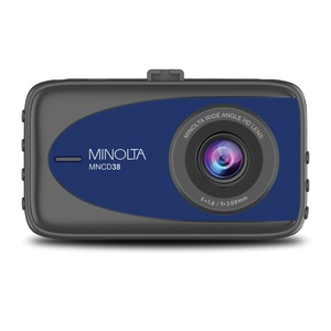 MINOLTA(R) MNCD38 1080p Full HD Dash Camera with 3.2-Inch LCD Screen (Blue) MNCD38-BL