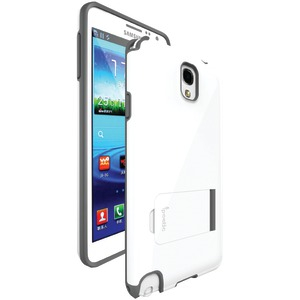 Samsung(R) Galaxy Note(R) 3 Invictus Hybrid Case with Built-in Stand (White-Gray)
