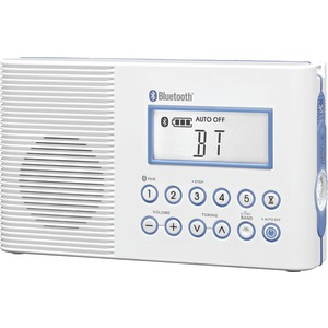 AM-FM Shower Radio with Bluetooth(R) Connectivity