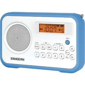 AM-FM Digital Portable Receiver with Alarm Clock (Blue)