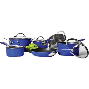 10-Piece Forged Cookware (Blue)