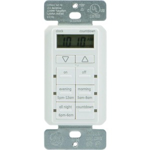 TouchSmart(TM) In-Wall Digital Timer with 6 Pushbuttons