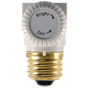 Turn Knob Lamp Socket Dimmer (White)