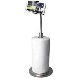 Paper Towel Holder with Gooseneck Stand for Smartphones