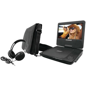 SYLVANIA 7 inch. Swivel-Screen Portable DVD Player (Black) SDVD7060-COMBO-BLACK