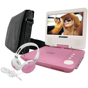 SYLVANIA 7 inch. Swivel-Screen Portable DVD Player (Pink) SDVD7060-COMBO-PINK