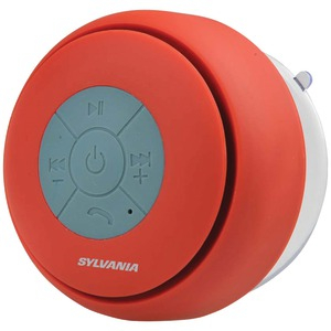 Bluetooth(R) Suction Cup Shower Speaker (Red)