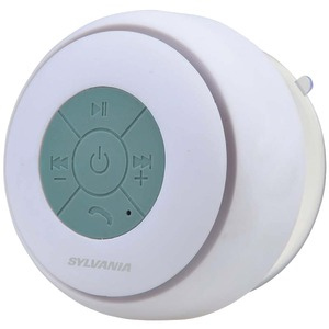 SYLVANIA Bluetooth(R) Suction Cup Shower Speaker (White) SP230-WHITE