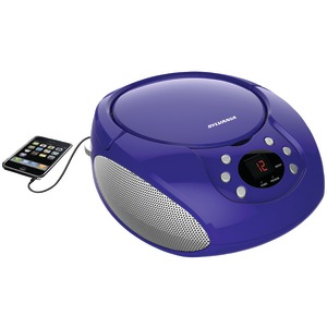 SYLVANIA Portable CD Player with AM-FM Radio (Purple) SRCD261-B-PURPLE