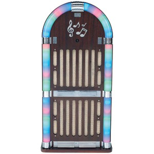 SYLVANIA Classic Wooden Jukebox AM-FM Radio with Bluetooth(R) SRCD806