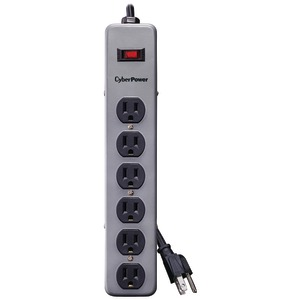 CYBERPOWER CSB606 Essential Surge Protector (Gray) CSB606M