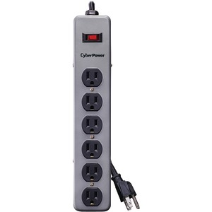 CYBERPOWER CSB606 Essential Surge Protector (Black) CSB606