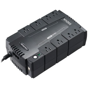 CYBERPOWER 8-Outlet Standby UPS System ($100,000 connected equipment guarantee) CP550SLG
