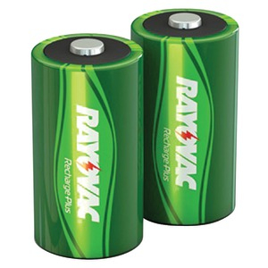 RAYOVAC Ready-to-Use Rechargeable Plus Batteries (D Battery 2pk 3000mAh) PL713-2 GENB