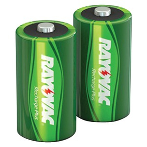 RAYOVAC Ready-to-Use Rechargeable Plus Batteries (C Battery; 2pk; 300mAh) PL714-2 GENB