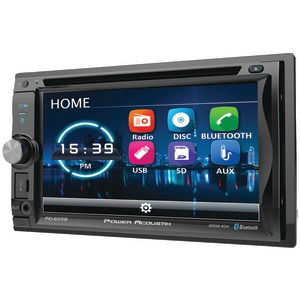 POWER ACOUSTIK 6.2 inch. Incite Double-DIN In-Dash Detachable LCD Touchscreen DVD Receiver with Bluetooth(R) PD-625B