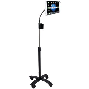 CTA DIGITAL iPad(R)/Tablet Compact Security Gooseneck Floor Stand with Lock-&-Key Security System PAD-SCGS