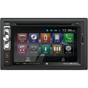 DUAL 6.2 inch. Double-DIN In-Dash DVD Receiver with Bluetooth(R) DV527BT