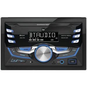 DUAL Double-DIN In-Dash Mechless AM/FM Receiver with Bluetooth(R) DXRM57BT