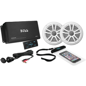 BOSS AUDIO Marine Amp with Bluetooth(R) & Marine Speakers Package ASK902B.6