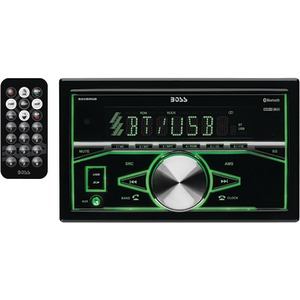 BOSS AUDIO Double-DIN In-Dash Mechless AM/FM with Bluetooth(R) 820BRGB