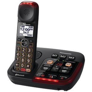 PANASONIC Single-Handset Link2Cell Bluetooth(R) Amplified Cordless Digital Answering System KX-TGM430B